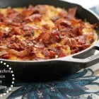 Cheesy Chicken and Rice Skillet Dinner with Bacon