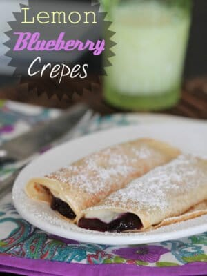 Image of Creamy Lemon Blueberry Crepes