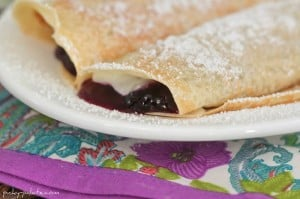 Creamy Lemon Blueberry Crepes 4