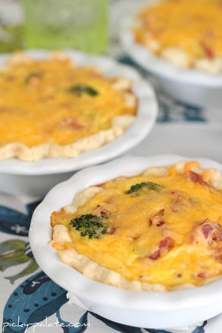 Mini Broccoli, Cheddar and Bacon Quiche 2 - Picky Palate