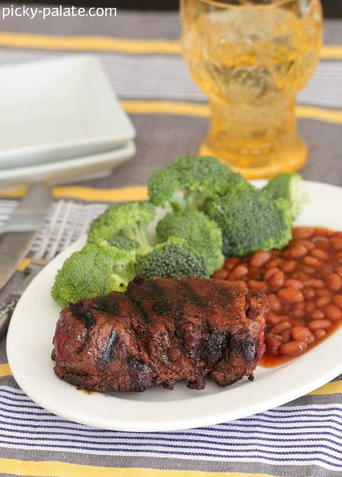 Image of Grilled Smoky Sweet Filet Mignon on a Plate