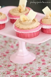White Chocolate, Peanut Butter and Banana Cupcakes 1