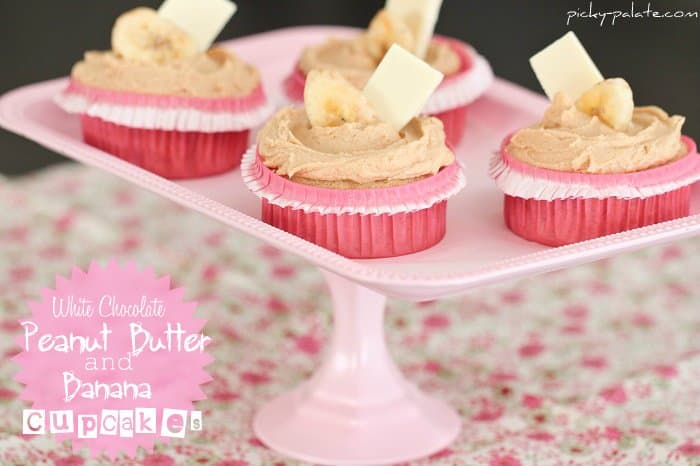 White Chocolate Peanut Butter Banana Cupcakes