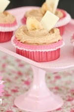 White Chocolate, Peanut Butter and Banana Cupcakes
