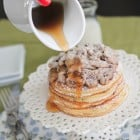 """Chocolate Chip Pan """"Cakes"""" with Cookie Dough Crumble"""