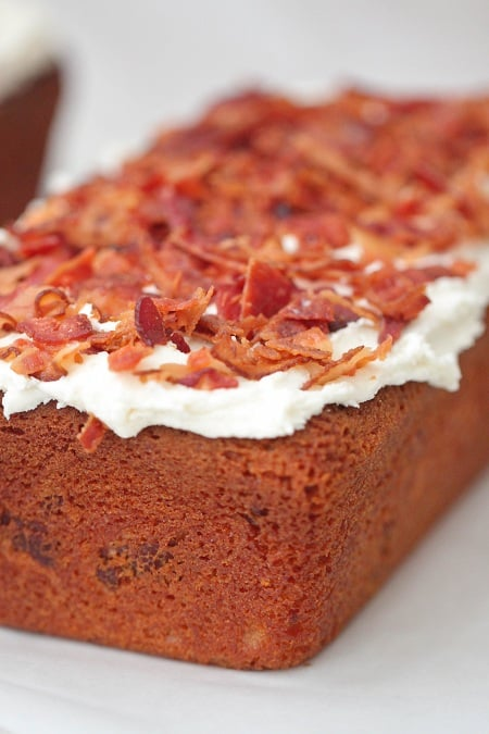 Pancakes and Bacon Cake Slices with Maple Buttercream - Picky Palate