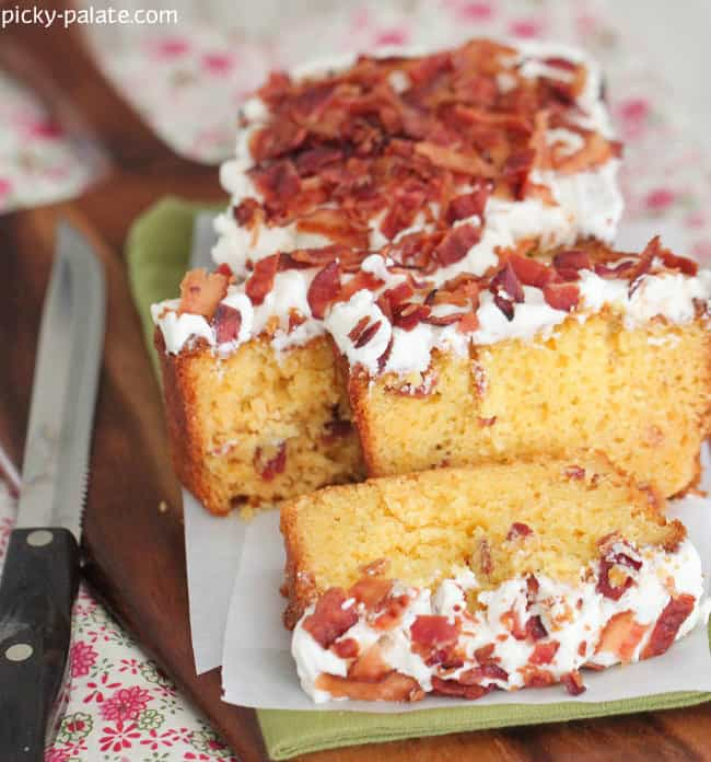 Image of Pancakes and Bacon Cake Slices