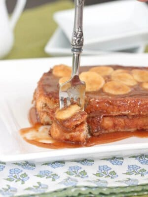 Image of Peanut Butter Bananas Foster French Toast