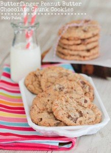 Butterfinger Peanut Butter Chocolate Chunk Cookies 1 text