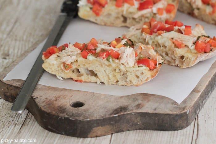 Chicken Gorgonzola Bruschetta Garlic Toast - Picky Palate