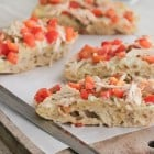 Chicken Gorgonzola Bruschetta Garlic Toast