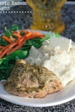 Pesto Ranch Crock Pot Chicken Thighs