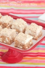 Oatmeal White Chocolate Cookie Dough Bars 1