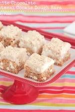 Oatmeal White Chocolate Cookie Dough Bars
