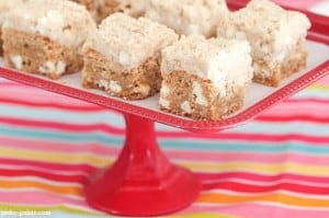 Oatmeal White Chocolate Cookie Dough Bars 4