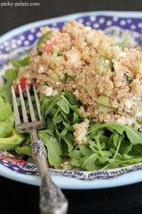 Quinoa Tabbouleh Arugula Salad 3