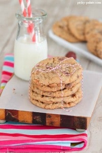 Butterfinger Peanut Butter Chocolate Chunk Cookies 3