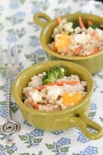 Mango Chicken and Blue Cheese  Quinoa Salad