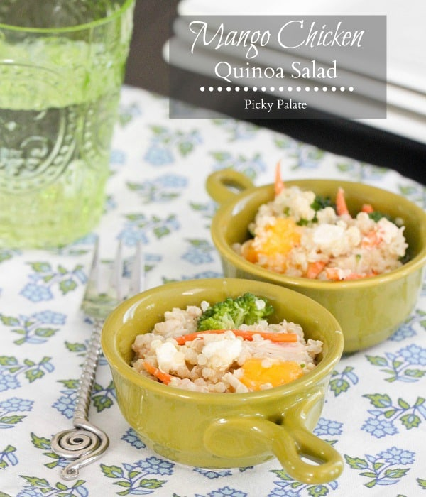 Mango Chicken Quinoa Salad text