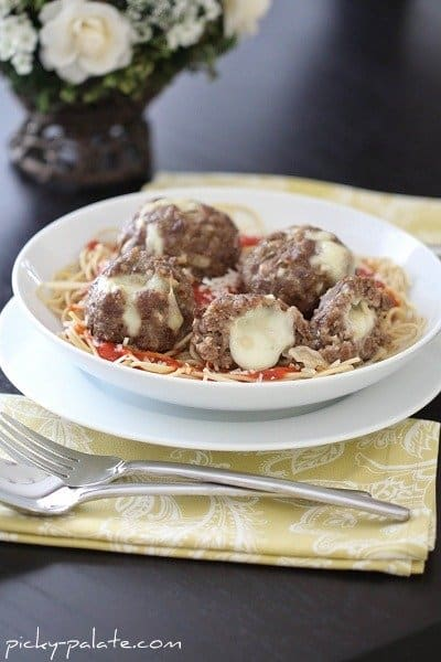 Image of Mozarella Stuffed Meatballs