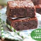 One Bowl Homemade Chocolate Chunk and Toffee Chip Brownies