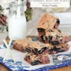 Oreo Chocolate Chip Peanut Butter Bars