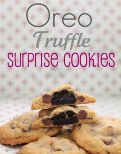 Oreo Truffle Surprise Cookies