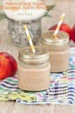 Peaches and Cream Cinnamon Spice Frosty