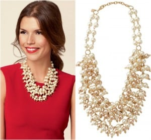Sophia Pearl Bib Necklace