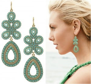 Turquoise Capri Chandelier Earrings