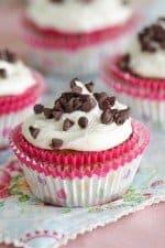 Pumpkin Brownie Cupcakes with Vanilla Bean Buttercream