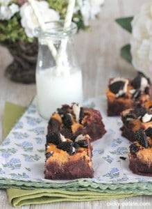 Pumpkin Cream Cheese and Oreo Chunk Brownies 2