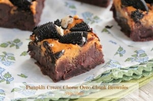 Pumpkin Cream Cheese and Oreo Chunk Brownies 7 text