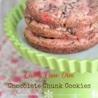 Candy Cane Oreo Chocolate Chunk Cookies