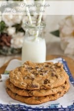 Giant Salted Pumpkin Molasses Chocolate Chunk Cookies 1 text
