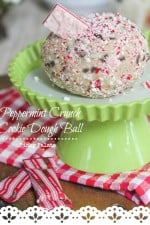 Peppermint Crunch Cookie Dough Ball - Picky Palate