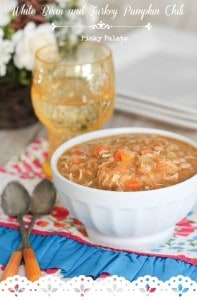 White Bean Chicken Pumpkin Chili t