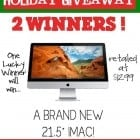 Apple iMac Computer and $500 Visa Gift Card Giveaway