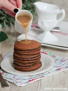 Chocolate Egg Nog Pancakes 1