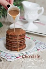 Chocolate Eggnog Baby Pancakes