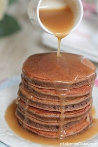Chocolate Egg Nog Pancakes 6
