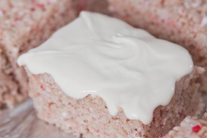 Candy Cane Crunch Krispie Treats - Picky Palate