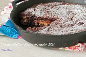 Peanut Butter Snickers Brownie Skillet 7t