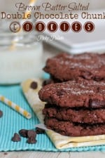 Brown Butter Salted Double Chocolate Chunk Cookies 1t