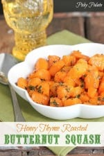 Honey Thyme Roasted Butternut Squash 1t