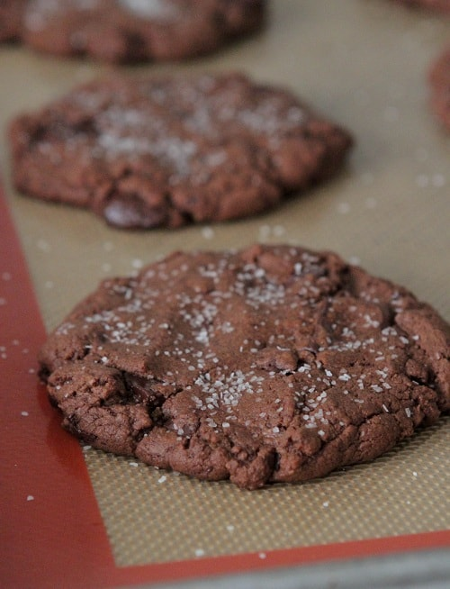 Brown Butter Salted Double Chocolate Chunk Cookies - Picky Palate