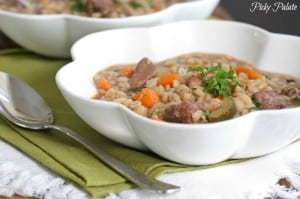 Slow Cooker Beef and Barley Soup 2