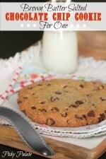 Brown Butter Salted Chocolate Chip Cookies For One