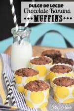Dulce de Leche Chocolate Banana Muffinsby Picky Palate www.picky-palate.com