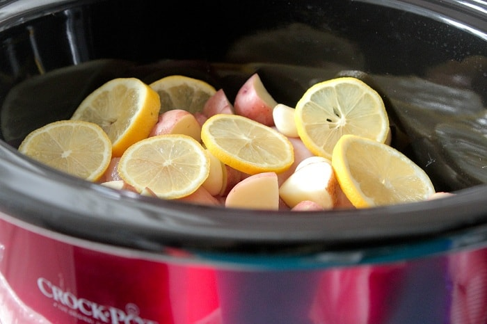 Slow Cooker Lemon Honey and Dijon Chicken Dinner - Picky Palate
